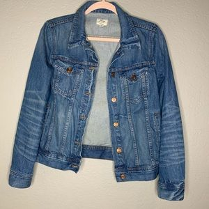 J. Crew Blue Jean Denim Trucker Jacket Size Small